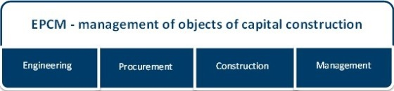 EPCM -Management of objects of capital construction
